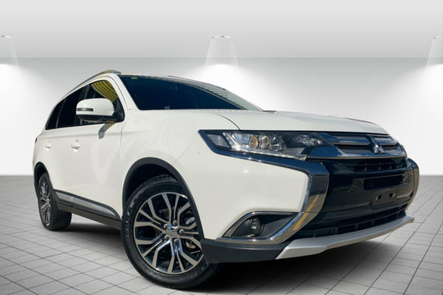 Used Mitsubishi Outlander ZK MY16 XLS 2WD, 2015 Mitsubishi Outlander ZK MY16 XLS 2WD White 6 Speed Constant Variable Wagon