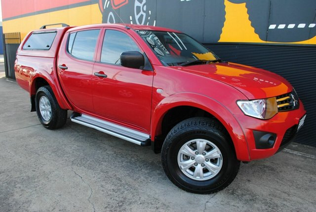 Used Mitsubishi Triton MN MY15 GLX Double Cab, 2015 Mitsubishi Triton MN MY15 GLX Double Cab Pillar Box Red 5 Speed Manual Utility