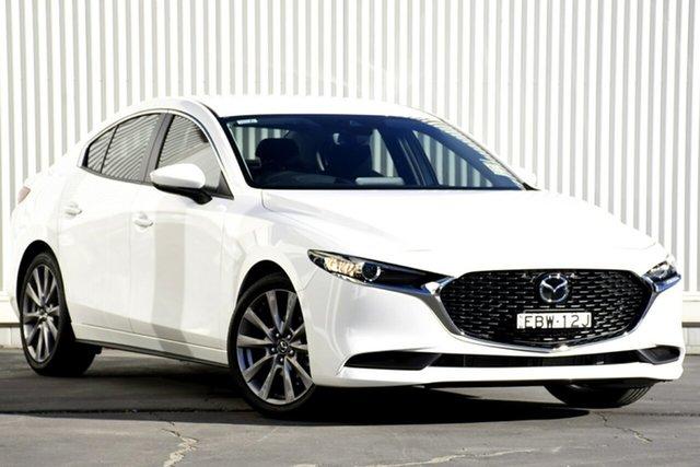 Demo Mazda 3 BP2S7A G20 SKYACTIV-Drive Evolve, 2019 Mazda 3 G20 EVOLVE G20 SKYACTIV-Drive Evolve White 6 Speed Automatic Sedan