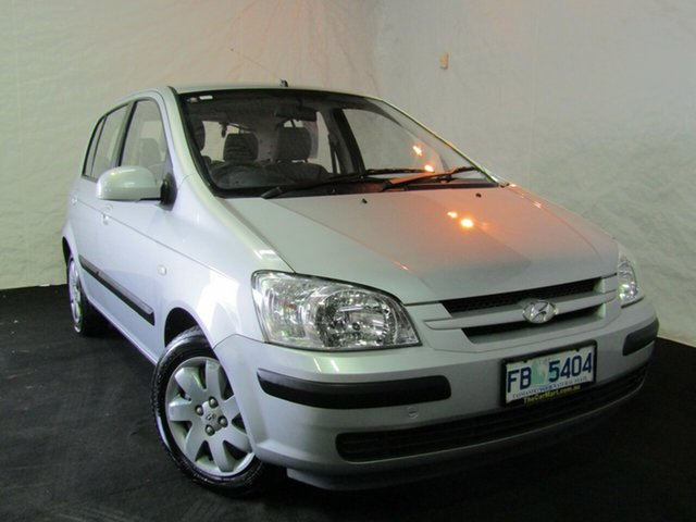Used Hyundai Getz TB MY04 GL, 2004 Hyundai Getz TB MY04 GL Clean Silver 5 Speed Manual Hatchback