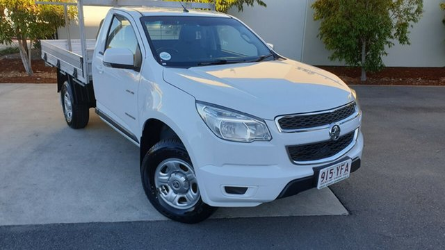 Used Holden Colorado RG MY14 LX 4x2, 2014 Holden Colorado RG MY14 LX 4x2 White 6 speed Manual Cab Chassis