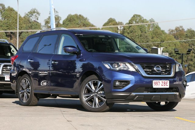 Demo Nissan Pathfinder R52 Series II MY17 Ti X-tronic 4WD, 2018 Nissan Pathfinder R52 Series II MY17 Ti X-tronic 4WD Blue 1 Speed Constant Variable Wagon