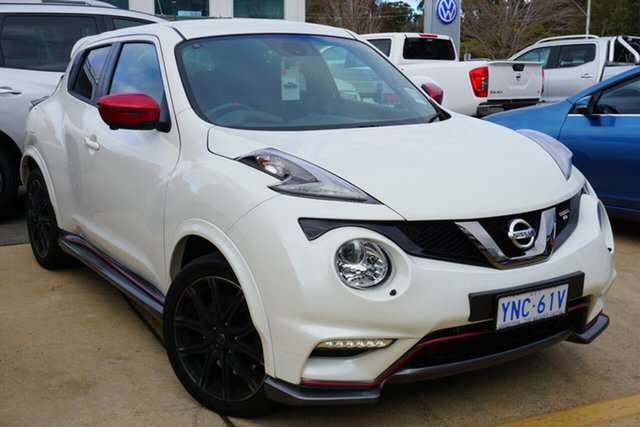 Demo Nissan Juke F15 MY18 NISMO X-tronic AWD RS, 2018 Nissan Juke F15 MY18 NISMO X-tronic AWD RS Snow Storm 8 Speed Constant Variable Hatchback