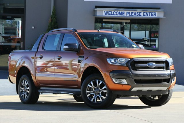Used Ford Ranger PX MkII Wildtrak Double Cab, 2015 Ford Ranger PX MkII Wildtrak Double Cab Pride Orange 6 Speed Sports Automatic Utility