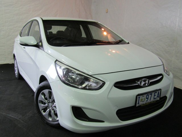 Used Hyundai Accent RB2 MY15 Active, 2015 Hyundai Accent RB2 MY15 Active White 6 Speed Manual Sedan