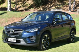 2016 Mazda CX-5 KE1032 Grand Touring SKYACTIV-Drive AWD Deep Crystal Blue 6 Speed Sports Automatic