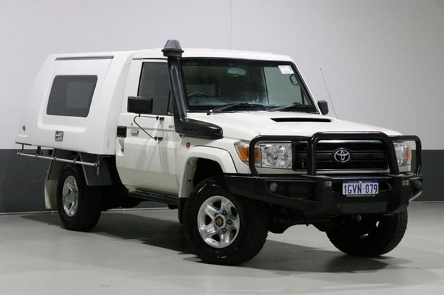 Used Toyota Landcruiser VDJ79R MY12 Update GX (4x4), 2014 Toyota Landcruiser VDJ79R MY12 Update GX (4x4) White 5 Speed Manual Cab Chassis