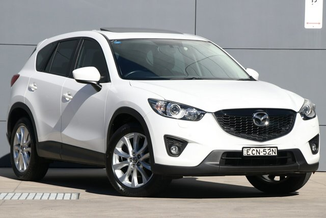 Used Mazda CX-5 KE1031 MY14 Grand Touring SKYACTIV-Drive AWD, 2014 Mazda CX-5 KE1031 MY14 Grand Touring SKYACTIV-Drive AWD White 6 Speed Sports Automatic Wagon