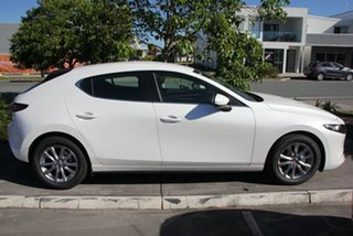 2020 Mazda 3 BP2H7A G20 SKYACTIV-Drive Pure Snowflake White 6 Speed Sports Automatic Hatchback