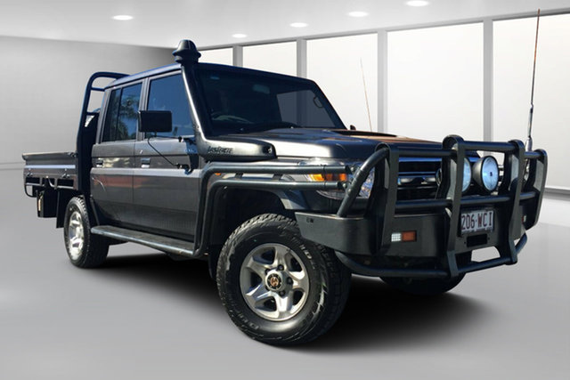 Used Toyota Landcruiser VDJ79R MY12 Update GXL (4x4), 2015 Toyota Landcruiser VDJ79R MY12 Update GXL (4x4) Graphite 5 Speed Manual Double Cab Chassis