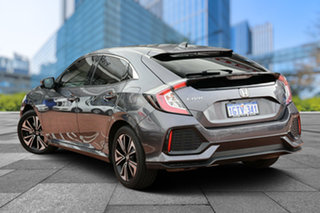 2018 Honda Civic 10th Gen MY18 VTi-LX Modern Steel 1 Speed Constant Variable Hatchback.