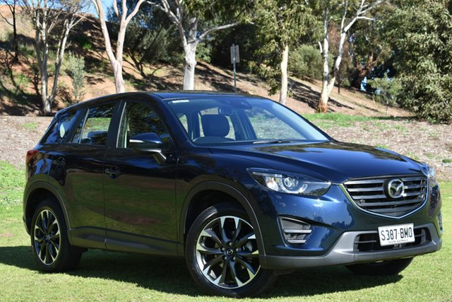 Used Mazda CX-5 KE1032 Grand Touring SKYACTIV-Drive AWD, 2016 Mazda CX-5 KE1032 Grand Touring SKYACTIV-Drive AWD Metallic Navy/leathe 6 Speed