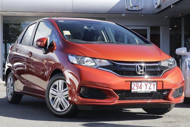 Demo Honda Jazz GF MY20 VTi, 2019 Honda Jazz GF MY20 VTi Phoenix Orange 1 Speed Constant Variable Hatchback
