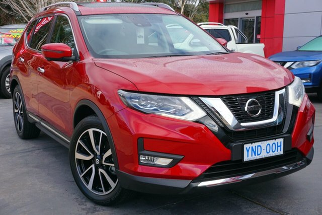 Demo Nissan X-Trail T32 Series II Ti X-tronic 4WD, 2018 Nissan X-Trail T32 Series II Ti X-tronic 4WD Ruby Red 7 Speed Constant Variable Wagon