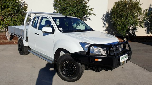 Used Isuzu D-MAX MY15 SX Space Cab, 2014 Isuzu D-MAX MY15 SX Space Cab White 5 Speed Manual Cab Chassis