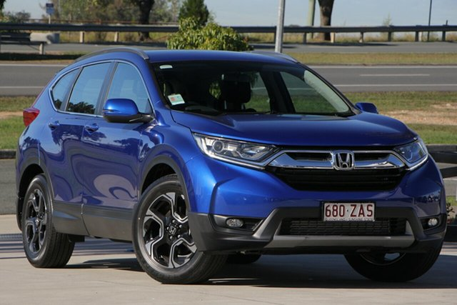 Demo Honda CR-V RW MY19 VTi-E FWD, 2018 Honda CR-V RW MY19 VTi-E FWD Blue 1 Speed Constant Variable Wagon