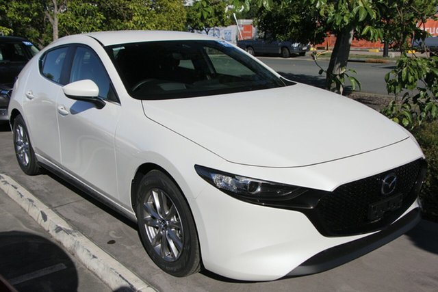 New Mazda 3 BP2H76 G20 SKYACTIV-MT Pure Wollongong, 2021 Mazda 3 BP2H76 G20 SKYACTIV-MT Pure Snowflake White Pearl 6 Speed Manual Hatchback