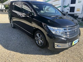 2011 Nissan Elgrand PE52 Rider Black 6 Speed Automatic Wagon.