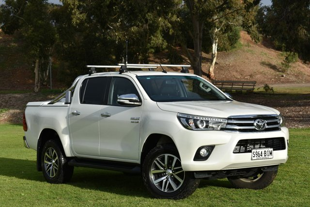 Used Toyota Hilux GUN126R SR5 Double Cab, 2015 Toyota Hilux GUN126R SR5 Double Cab Pearl White 6 Speed Sports Automatic Utility