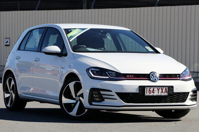 Demo Volkswagen Golf 7.5 MY19 GTI DSG, 2018 Volkswagen Golf 7.5 MY19 GTI DSG Pure White 7 Speed Sports Automatic Dual Clutch Hatchback