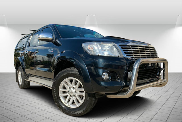 Used Toyota Hilux KUN26R MY14 SR5 Double Cab, 2014 Toyota Hilux KUN26R MY14 SR5 Double Cab Black 5 Speed Manual Utility