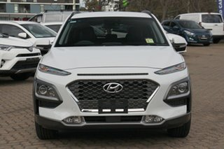 2020 Hyundai Kona OS.3 MY20 Elite (AWD) Chalk White 7 Speed Auto Dual Clutch Wagon