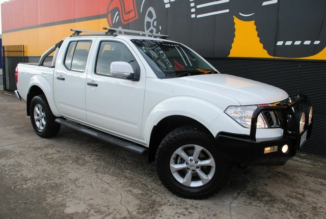Used Nissan Navara D40 S6 MY12 ST, 2012 Nissan Navara D40 S6 MY12 ST Arctic White 5 Speed Sports Automatic Utility