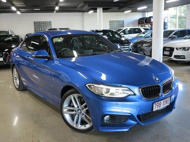 Used BMW 2 Series F22 LCI 220i M Sport, 2017 BMW 2 Series F22 LCI 220i M Sport Estoril Blue 8 Speed Sports Automatic Coupe