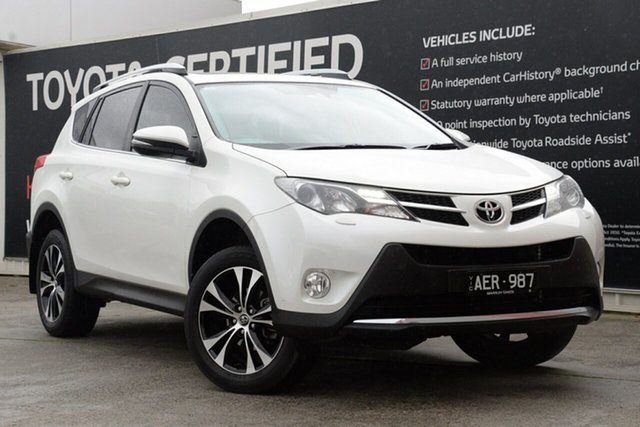 Used Toyota RAV4 ASA44R Cruiser AWD, 2015 Toyota RAV4 ASA44R Cruiser AWD Crystal Pearl 6 Speed Sports Automatic Wagon