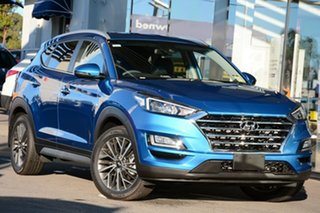 2020 Hyundai Tucson TL3 MY21 Elite D-CT AWD Aqua Blue 7 Speed Sports Automatic Dual Clutch Wagon.