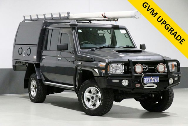 Used Toyota Landcruiser LC70 VDJ79R MY17 GXL (4x4), 2016 Toyota Landcruiser LC70 VDJ79R MY17 GXL (4x4) Grey 5 Speed Manual Double Cab Chassis