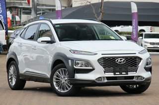 2020 Hyundai Kona OS.3 MY20 Elite D-CT AWD Chalk White 7 Speed Sports Automatic Dual Clutch Wagon.