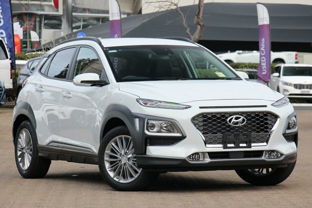 New Hyundai Kona OS.3 MY20 Elite D-CT AWD, 2019 Hyundai Kona OS.3 MY20 Elite D-CT AWD Chalk White 7 Speed Sports Automatic Dual Clutch Wagon