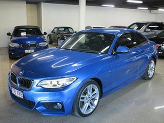 2017 BMW 2 Series F22 LCI 220i M Sport Estoril Blue 8 Speed Sports Automatic Coupe.