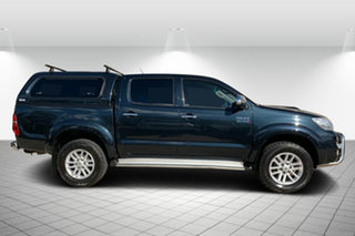 2014 Toyota Hilux KUN26R MY14 SR5 Double Cab Black 5 Speed Manual Utility.