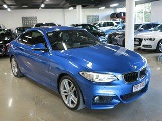 2017 BMW 2 Series F22 LCI 220i M Sport Estoril Blue 8 Speed Sports Automatic Coupe.