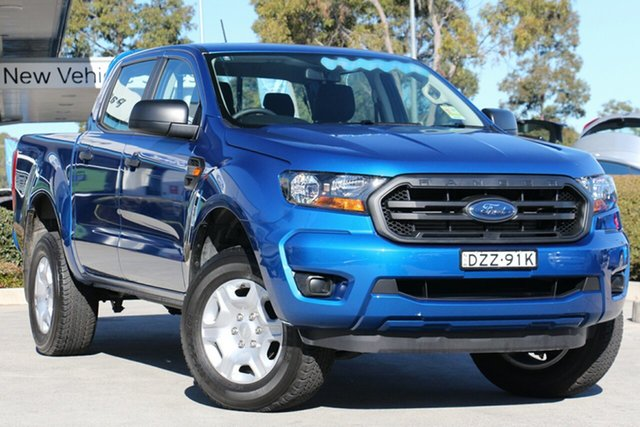 Used Ford Ranger PX MkII 2018.00MY XL Double Cab 4x2 Hi-Rider, 2018 Ford Ranger PX MkII 2018.00MY XL Double Cab 4x2 Hi-Rider Blue 6 Speed Sports Automatic Utility