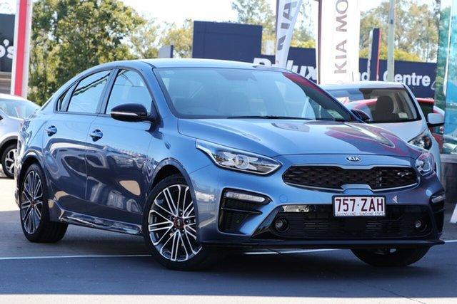 Demo Kia Cerato BD MY19 GT DCT, 2019 Kia Cerato BD MY19 GT DCT Horizon Blue 7 Speed Sports Automatic Dual Clutch Sedan