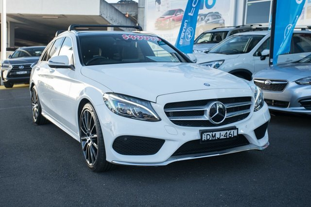 Used Mercedes-Benz C250 S205 807+057MY d Estate 9G-Tronic, 2017 Mercedes-Benz C250 S205 807+057MY d Estate 9G-Tronic White 9 Speed Sports Automatic Wagon