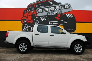 2012 Nissan Navara D40 S6 MY12 ST Arctic White 5 Speed Sports Automatic Utility.