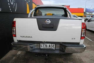 2012 Nissan Navara D40 S6 MY12 ST Arctic White 5 Speed Sports Automatic Utility