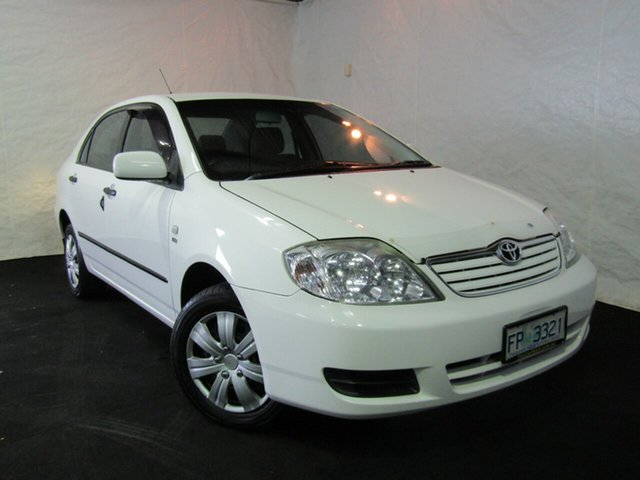 Used Toyota Corolla ZZE122R 5Y Ascent, 2005 Toyota Corolla ZZE122R 5Y Ascent White 4 Speed Automatic Sedan