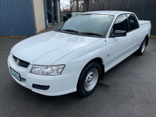 2007 Holden Crewman VZ MY06 Heron White 4 Speed Automatic Utility.