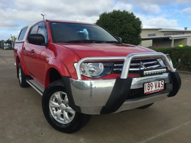 Used Mitsubishi Triton MN MY15 GLX Double Cab, 2014 Mitsubishi Triton MN MY15 GLX Double Cab Red 4 Speed Sports Automatic Utility
