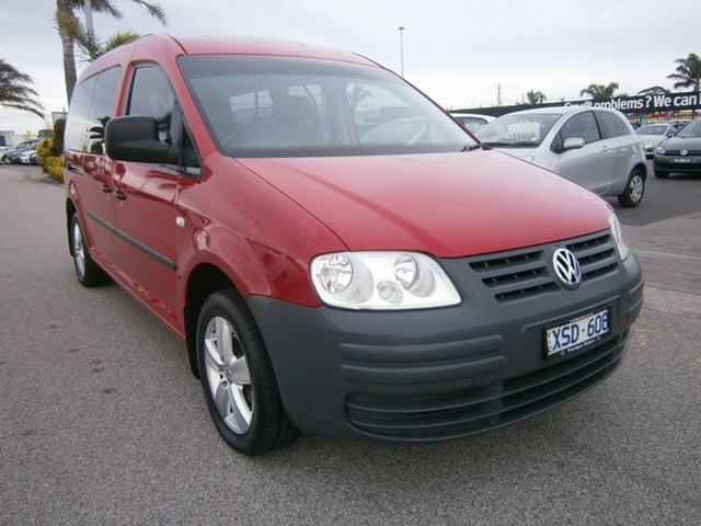 Used Volkswagen Caddy 2KN Maxi DSG, 2010 Volkswagen Caddy 2KN Maxi DSG Burgundy 6 Speed Sports Automatic Dual Clutch Van