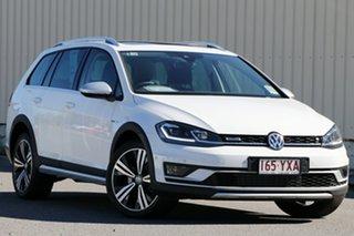 2018 Volkswagen Golf 7.5 MY19 Alltrack DSG 4MOTION 132TSI Premium Pure White 6 Speed.