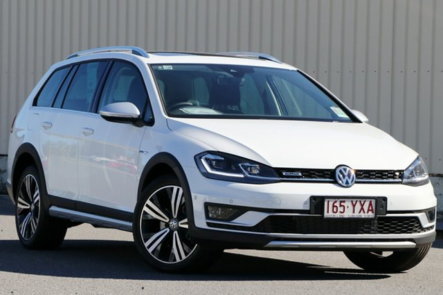 Demo Volkswagen Golf 7.5 MY19 Alltrack DSG 4MOTION 132TSI Premium, 2018 Volkswagen Golf 7.5 MY19 Alltrack DSG 4MOTION 132TSI Premium Pure White 6 Speed