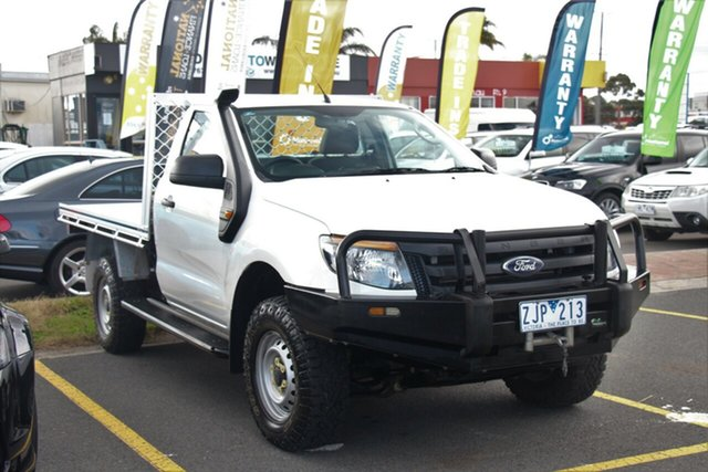 Used Ford Ranger PX XL, 2012 Ford Ranger PX XL White 6 Speed Manual Cab Chassis