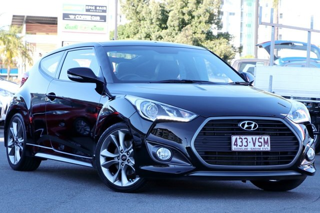 Used Hyundai Veloster FS4 Series II SR Coupe Turbo, 2015 Hyundai Veloster FS4 Series II SR Coupe Turbo Black/Grey 6 Speed Manual Hatchback