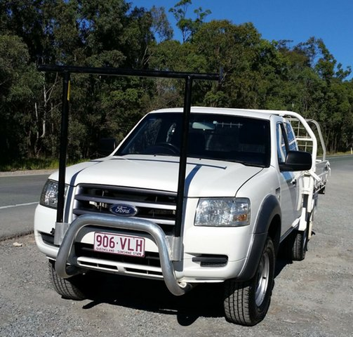 Used Ford Ranger PJ XL Super Cab 4x2 Hi-Rider, 2008 Ford Ranger PJ XL Super Cab 4x2 Hi-Rider White 5 Speed Manual Cab Chassis